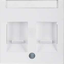 11818989 Centre Plate,  2 Slider,  Polar White Glos