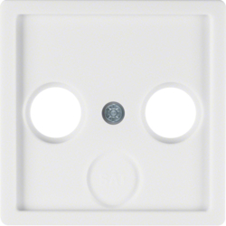 12036089 Plate Aerial Socket 2-/3 Hole,  White