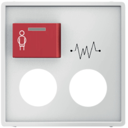12186089 Centre Plate 2 Plugin Opening/Red Button