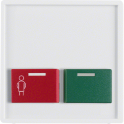 12496089 Centre Plate with Green+Red Button