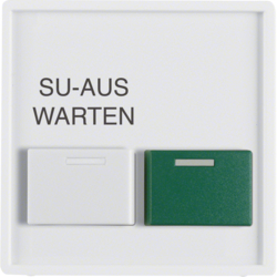 12996089 Centre Plate White+Green Button