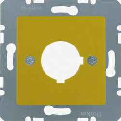 143207 Central Plate with 22.5mm Hole,  Yellow