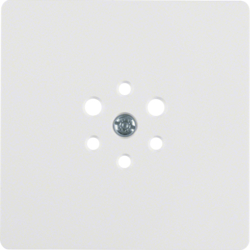 147409 CENTRE PLATE POLAR WHITE