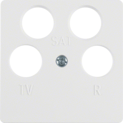 14841909 Centre Plate Aerial Socket 4 Hole,  White