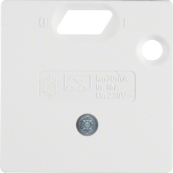 14931909 57 x 50 mm centre plate for RCD protect.