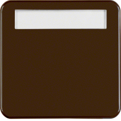 162901 Rocker with labelling field,  Splash-protected flush-mounted IP44, brown glossy