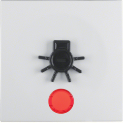 16511949 Rocker for accessible construction with tactile symbol for light,  red lens,  Berker S.1/B.3/B.7, polar white matt