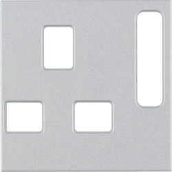 3313071404 BS Socket Coverplate Aluminium Matt