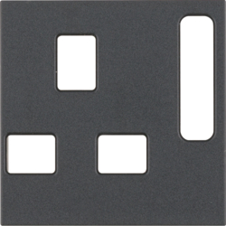 3313071606 BS Socket Coverplate Anthracite Matt
