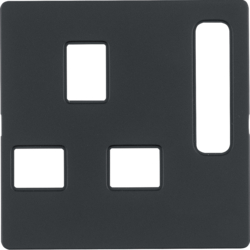 3313076086 BS Socket Centre Plate,  Anthracite Matt