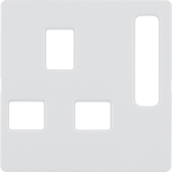 3313076089 BS Socket Centre Plate Polar White Gloss