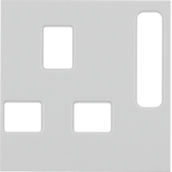 3313078982 BS Socket Coverplate White Glossy