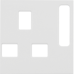3313078989 BS Socket Coverplate Polar White Glossy
