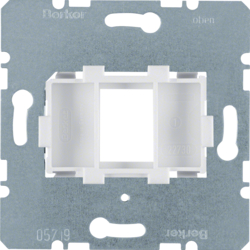 454002 Supporting Plate with White Mount 1-gang