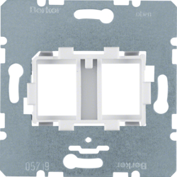 454105 Supporting Plate with White Mount 2-gang