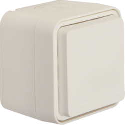 47403512 SCHUKO socket outlet with hinged cover surface-mounted Berker W.1, polar white matt