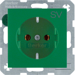 47431903 SOCKET OUTLET B1 GREEN
