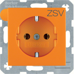 47431907 SOCKET OUTLET B1 ORANGE