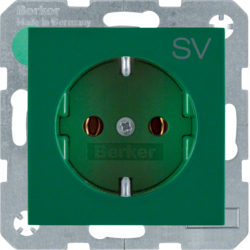47438903 SOCKET OUTLET B1 GREEN