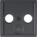 12036086 Plate Aerial Socket 2/3 Hole,  Anthracite