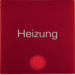 "16211902 Rocker with imprint ""Heizung "" red lens,  Berker S.1/B.3/B.7, red matt"