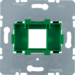 454004 Supporting Plate with Green Mount 1-gang