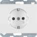 47357009 SCHUKO-socket outlet - K.1 PW,  glossy