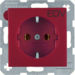 47431922 SOCKET OUTLET B1 RED