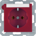 47501902 SOCKET OUTLET B1 RED