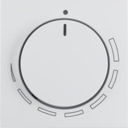 Berker S1 polarweiß matt Zentralstück mit Regulierknopf Wippe und Linse