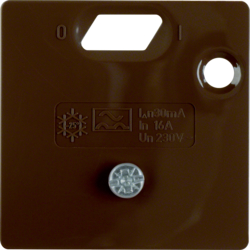 149301 Pezzo centrale 50 x 50 mm per interruttore differenziale Sistema 50 x 50 mm,  marrone lucido