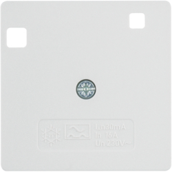 14961909 Pezzo centrale 50 x 50 mm per interruttore differenziale Sistema 50 x 50 mm