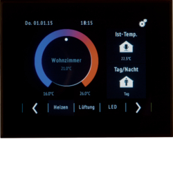 75740101 Touch Control KNX con display TFT con display a colori,  Con accoppiatore bus integrato,  KNX