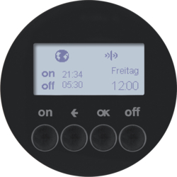 85745231 Orologio radio KNX quicklink con display,  nero lucido