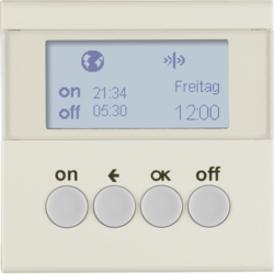 85745282 Orologio radio KNX quicklink con display,  bianco lucido